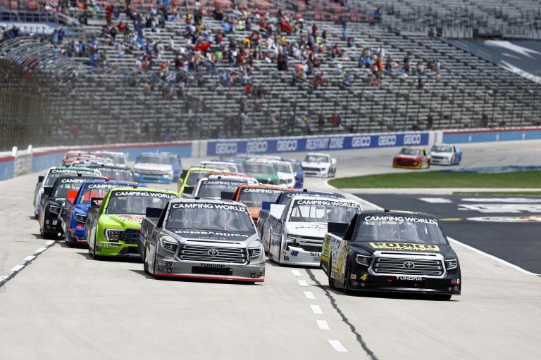 John Hunter Nemechek, Ben Rhodes - Texas Motor Speedway - NASCAR Truck Series 2
