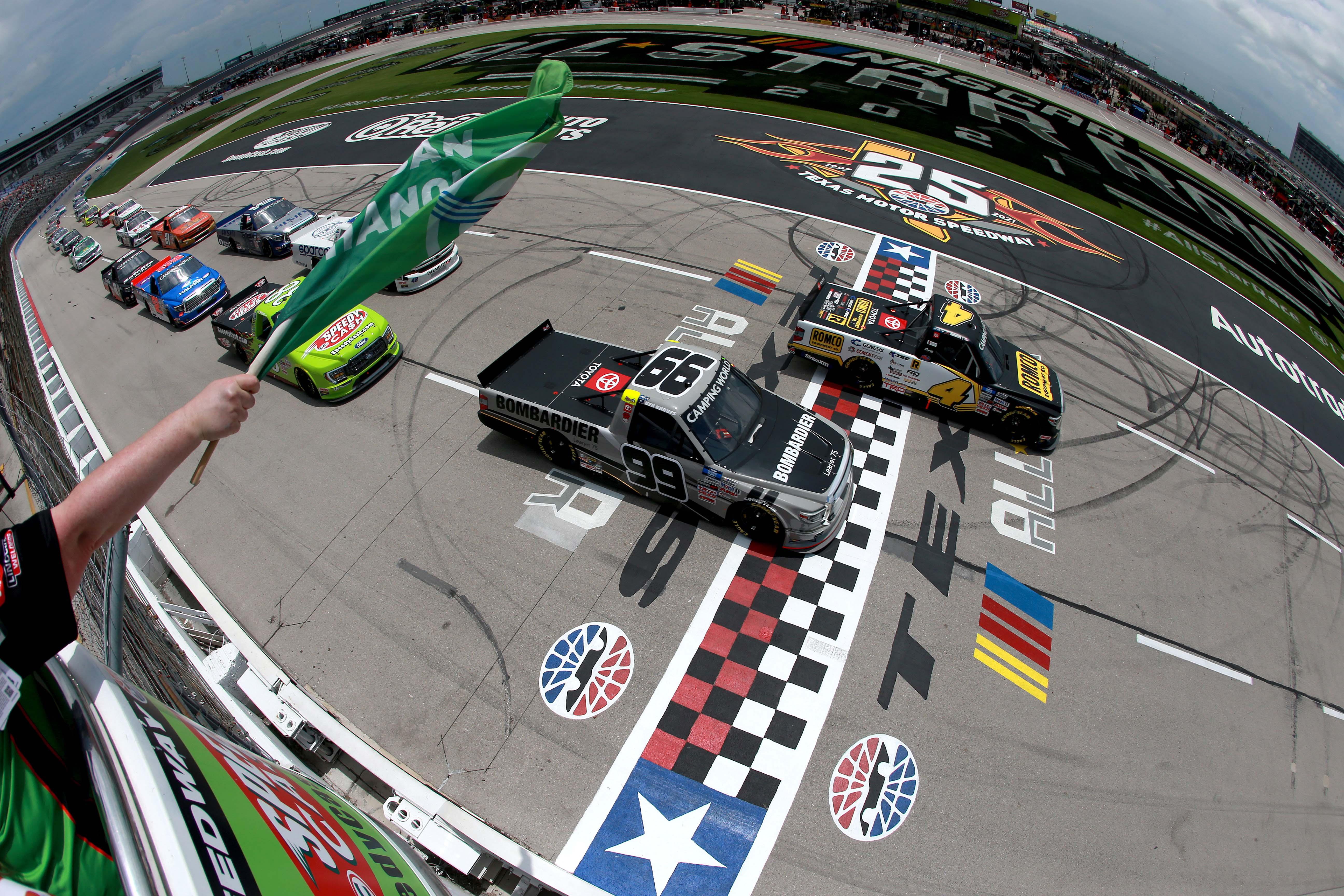 John Hunter Nemechek, Ben Rhodes - Texas Motor Speedway - NASCAR Truck Series