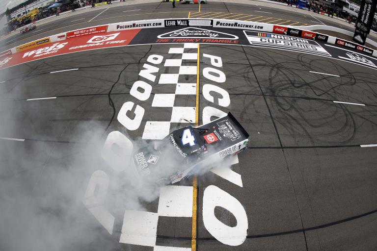 John Hunter Nemechek wins - Burnout - NASCAR Truck Series - Pocono Raceway