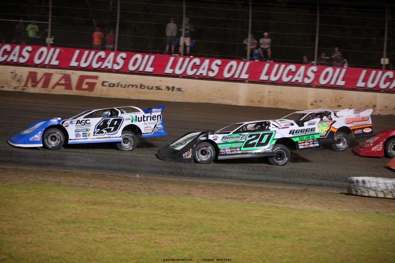 Jonathan Davenport, Jimmy Owens, Michael Arnold - Magnolia Motor Speedway - Dirt Track Racing 6825