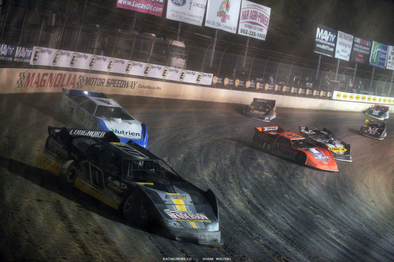 Jonathan Davenport, Kyle Bronson, Mike Marlar - Clash at the Mag - Magnolia Motor Speedway - Lucas Oil Late Model Dirt Series 6527