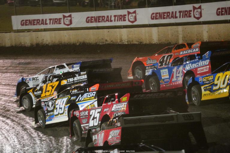 Jonathan Davenport, Kyle Bronson, Mike Marlar, Josh Richards, Tim McCreadie, Shane Clanton - Lucas Oil Late Model Dirt Series - Magnolia Motor Speedway 6648