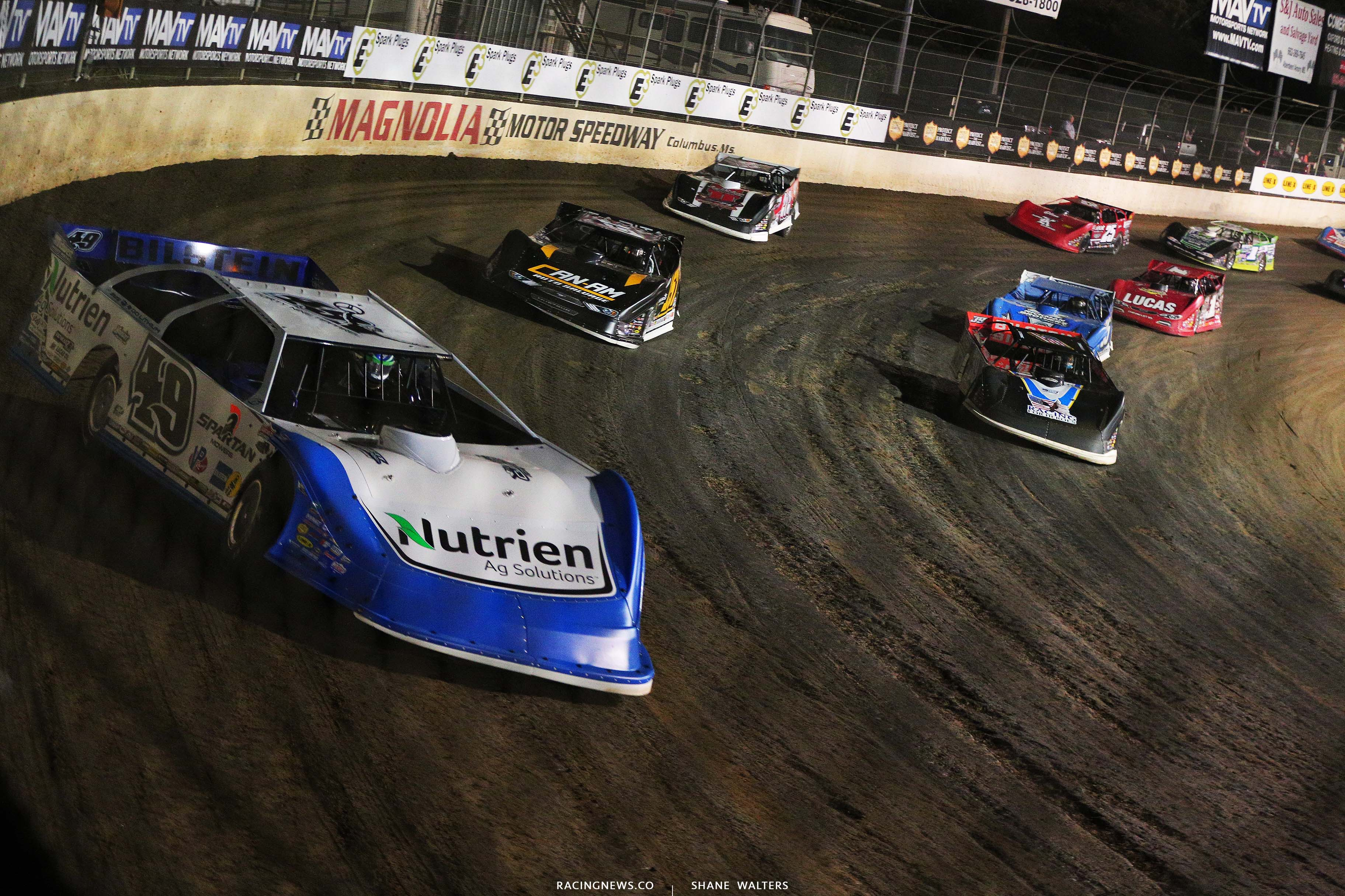 Jonathan Davenport, Mike Marlar, Tim McCreadie - Clash at the Mag - Magnolia Motor Speedway - Lucas Oil Late Model Dirt Series 6527