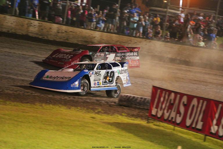 Jonathan Davenport and Earl Pearson Jr - Magnolia Motor Speedway - Lucas Late Models 6730