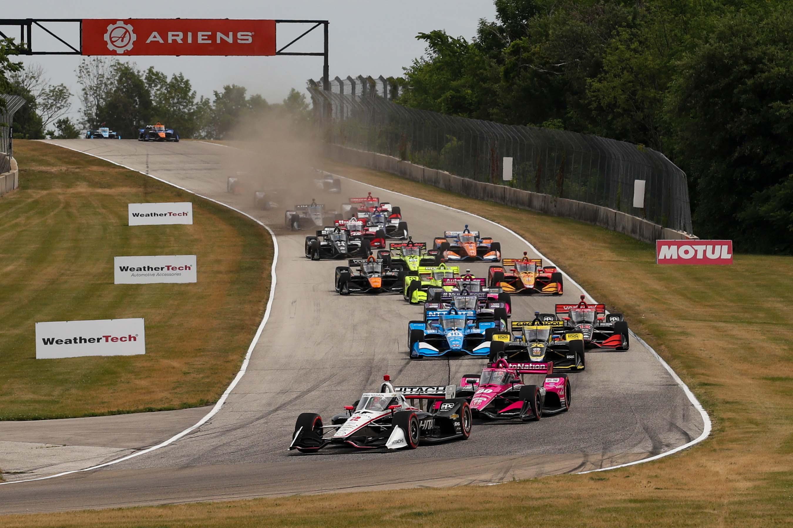 Josef Newgarden and Jack Harvey - Road America - Indycar Series 2
