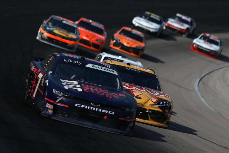 Justin Allgaier, Kyle Busch - Texas Motor Speedway - NASCAR Xfinity Series