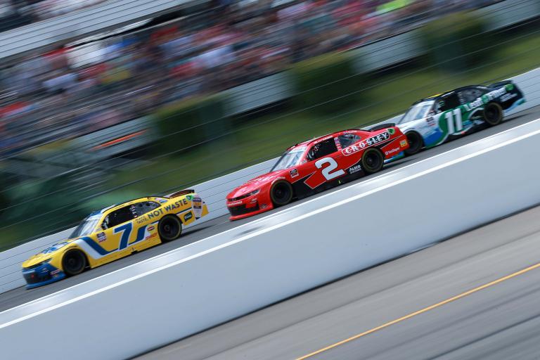 Justin Allgaier, Myatt Snider, Justin Haley - Pocono Raceway - NASCAR Xfinity Series