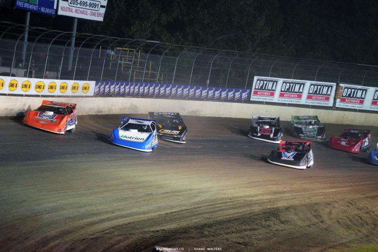 Kyle Bronson, Jonathan Davenport, Mike Marlar, Tim McCreadie - Clash at the Mag - Magnolia Motor Speedway - Lucas Oil Late Model Dirt Series 6527