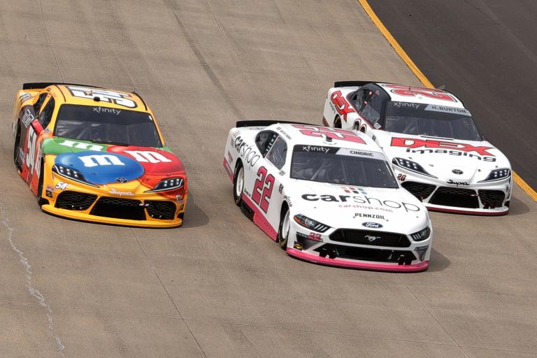 Kyle Busch, Austin Cindric Harrison Burton - Nashville Superspeedway - NASCAR Xfinity Series