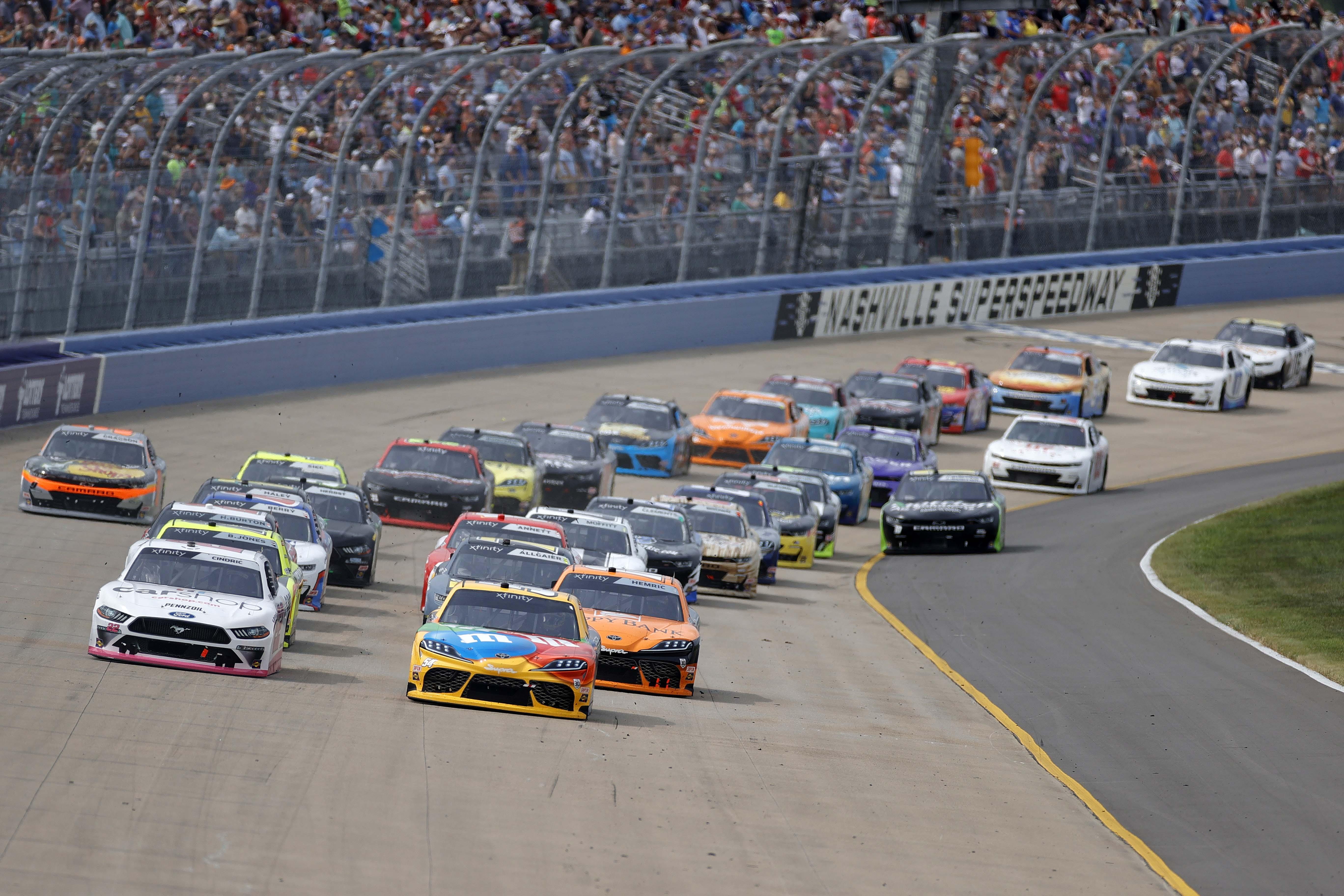 Kyle Busch, Austin Cindric - Nashville Superspeedway - NASCAR Xfinity Series