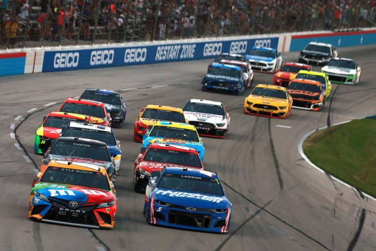 Kyle Busch and Kyle Larson - NASCAR All-Star Race - Texas Motor Speedway