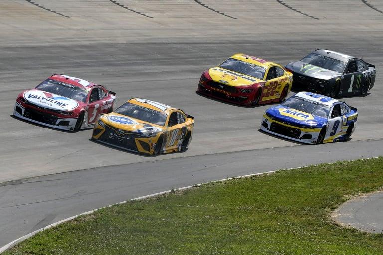Kyle Larson, Kyle Busch, Chase Elliott, Joey Logano - Nashville Superspeedway - NASCAR Cup Series