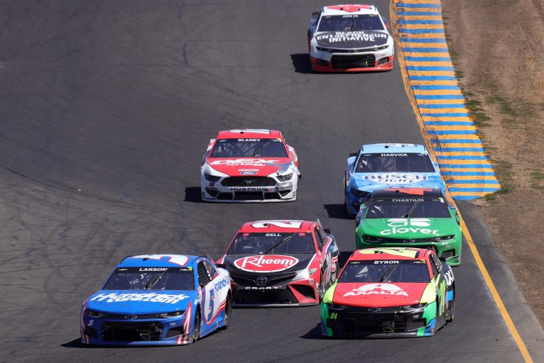 Kyle Larson, William Byron, Christoper Bell, Ross Chastain, Ryan Blaney at Sonoma Raceway - NASCAR Cup Series