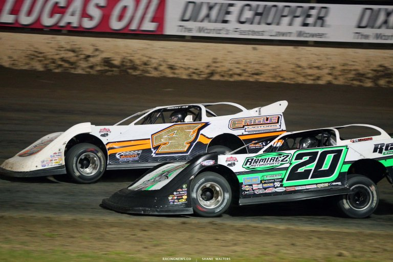 Michael Arnold and Jimmy Owens - Magnolia Motor Speedway - Dirt Late Model Racing 6827