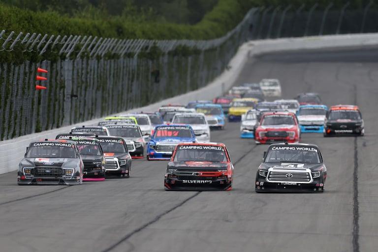 Todd Gilliland, Zane Smith, Kyle Busch - NASCAR Truck Series - Pocono Raceway