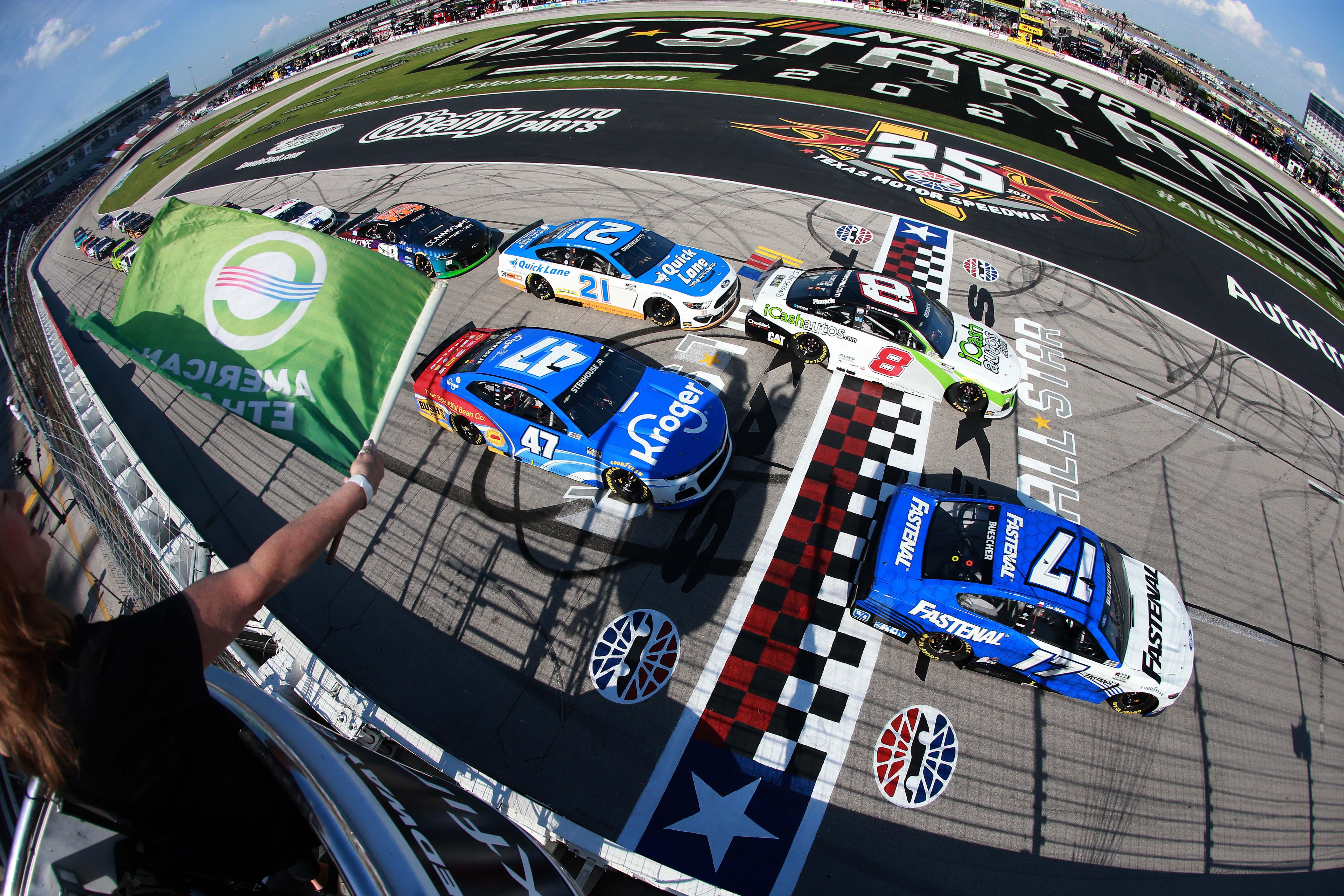 Tyler Reddick, Chris Buescher - NASCAR All-Star Open- Texas Motor Speedway