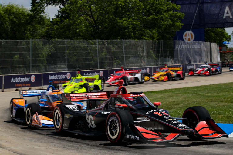Will Power, Scott Dixon - Detroit Grand Prix - Indycar Series - Belle Isle Park