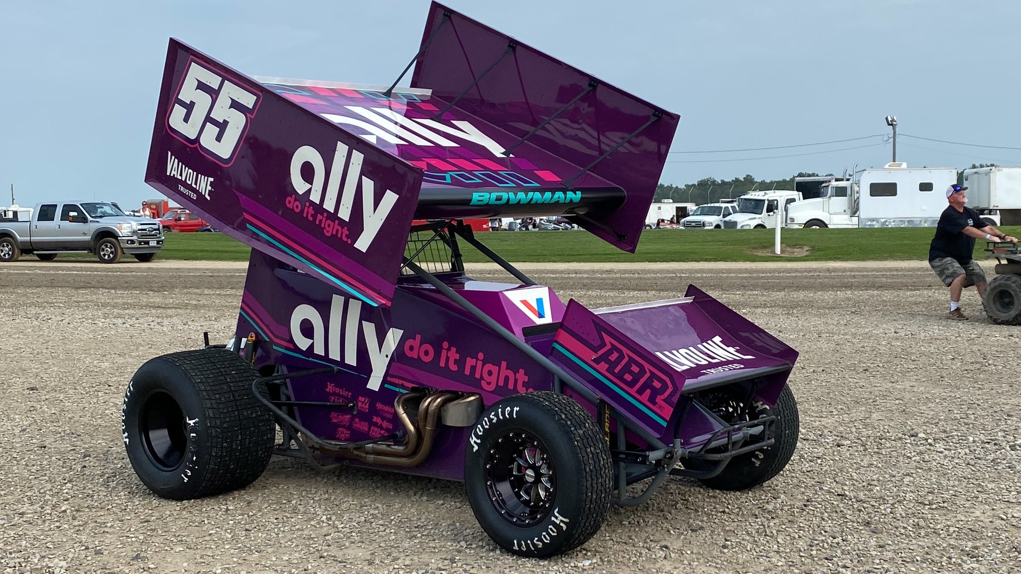 Alex Bowman 55 - ally sprint car
