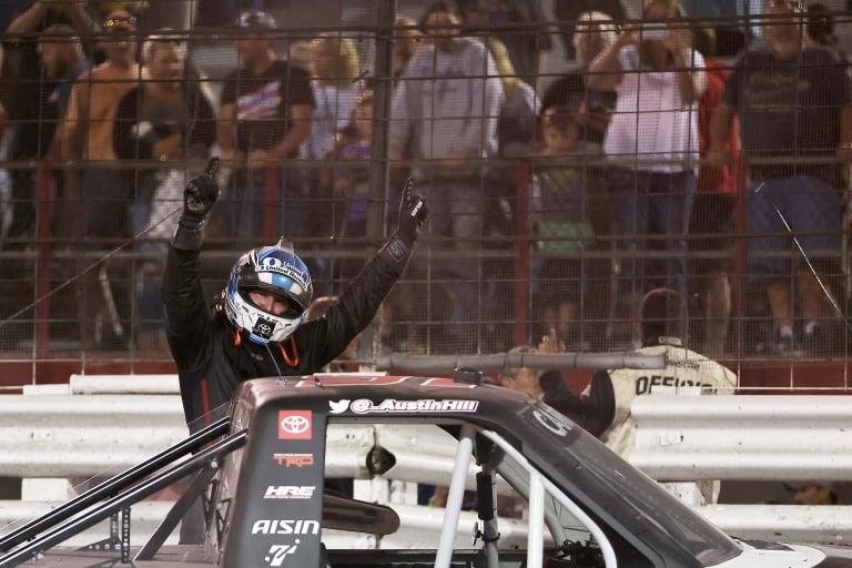 Austin Hill wins at - Knoxville Raceway - NASCAR Truck Series
