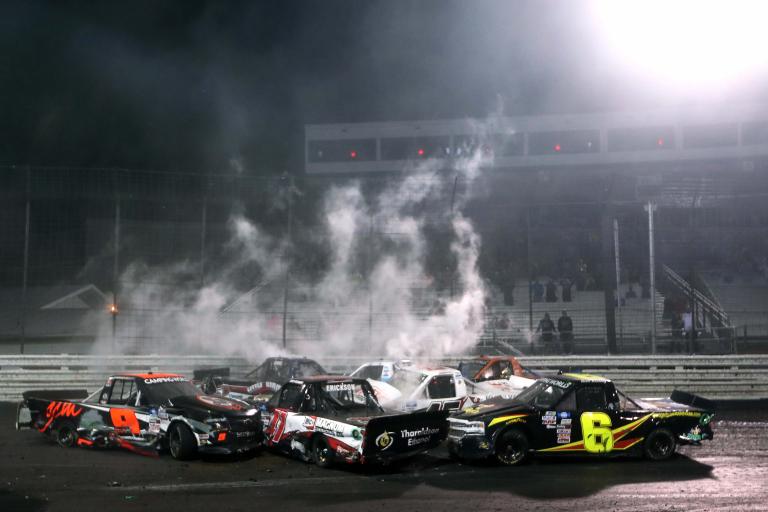 Big Crash - Knoxville Raceway - NASCAR Truck Series