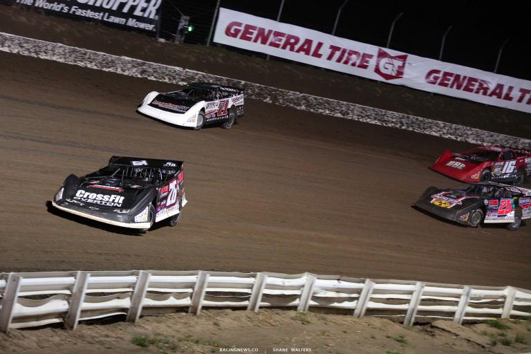 Brandon Overton, Hudson O'Neal, Ricky Thornton Jr and Tyler Bruening - I-80 Speedway - Dirt Late Model Racing 7575
