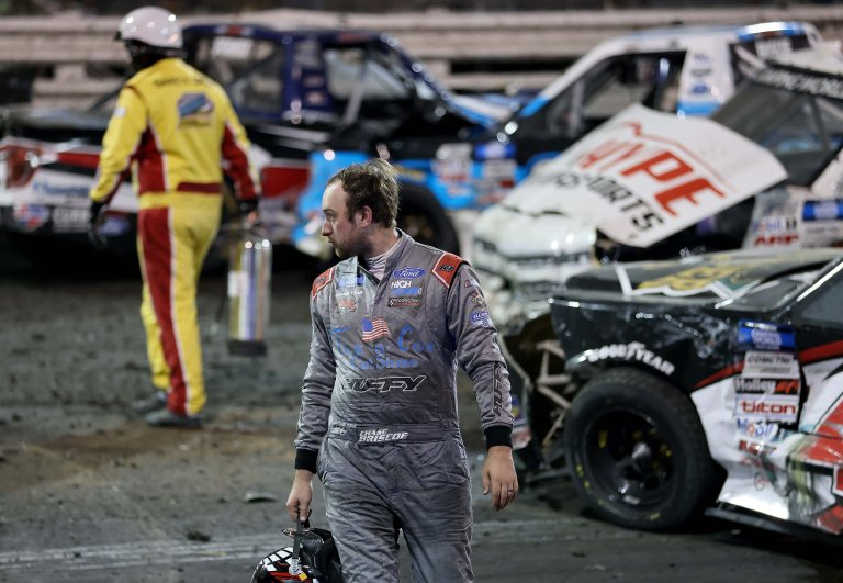 Chase Briscoe crash - Knoxville Raceway - NASCAR Truck Series