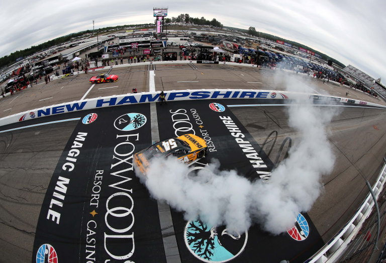 Christopher Bell wins - Burnout - New Hampshire Motor Speedway - NASCAR Xfinity Series