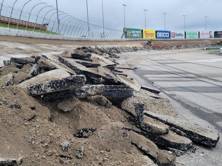 Construction at Atlanta Motor Speedway