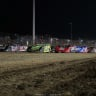 Four wide salute - I-80 Nationals at I-80 Speedway - Lucas Oil Late Model Dirt Series 7898