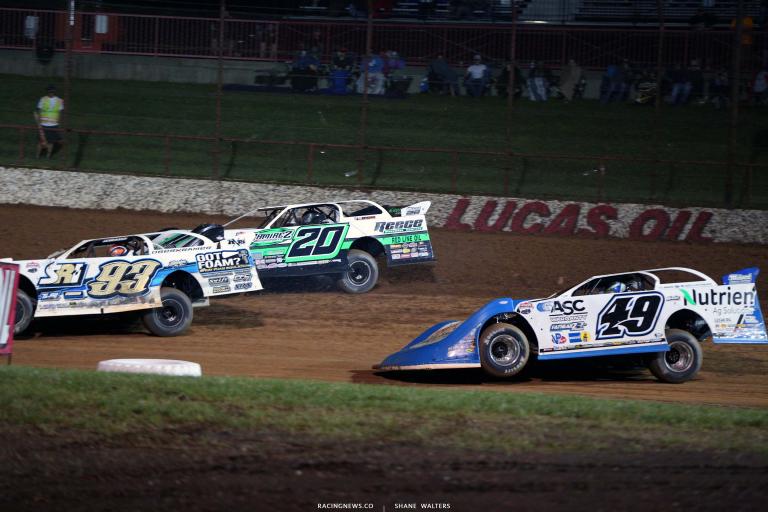 Jimmy Owens, Jonathan Davenport - Lucas Oil Speedway - Lucas Oil Late Model Dirt Series 7459