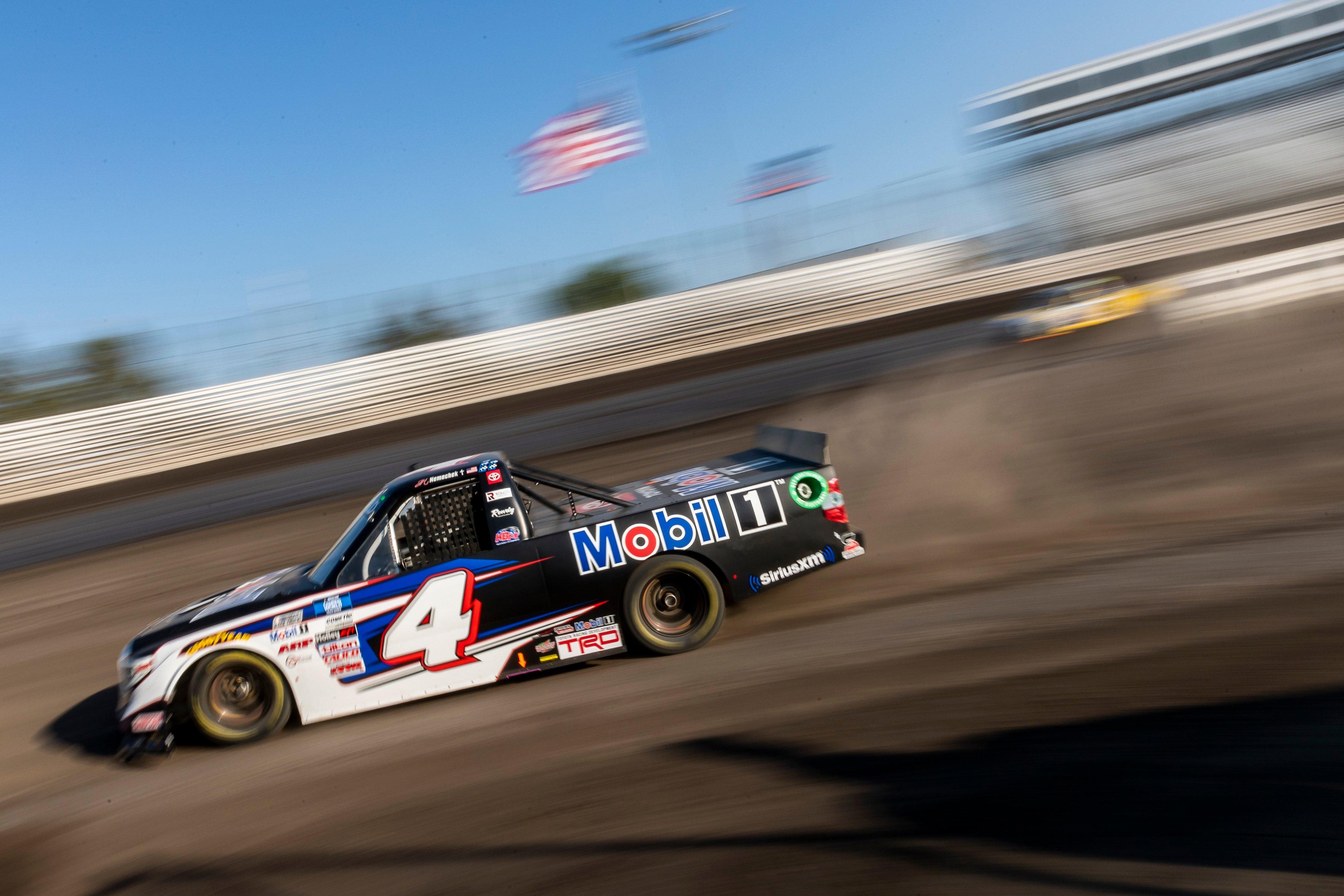 John Hunter Nemechek - NASCAR Truck Series - Knoxville Raceway Dirt Track Racing