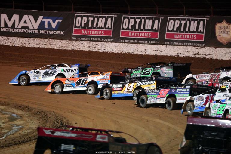 Jonathan Davenport, Kyle Bronson, Stormy Scott, Josh Richards - Lucas Oil Speedway - Dirt Late Model Racing 7482