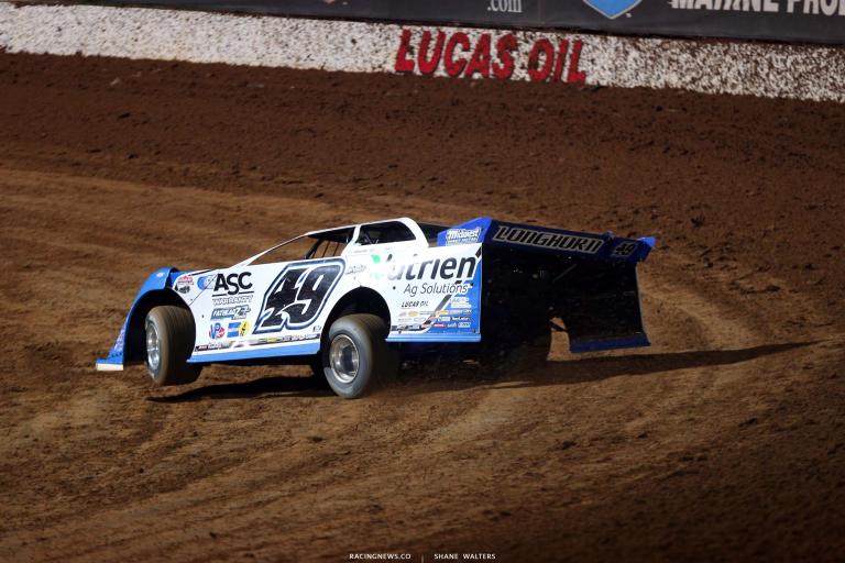 Jonathan Davenport at Lucas Oil Speedway - Dirt Track Racing 7522