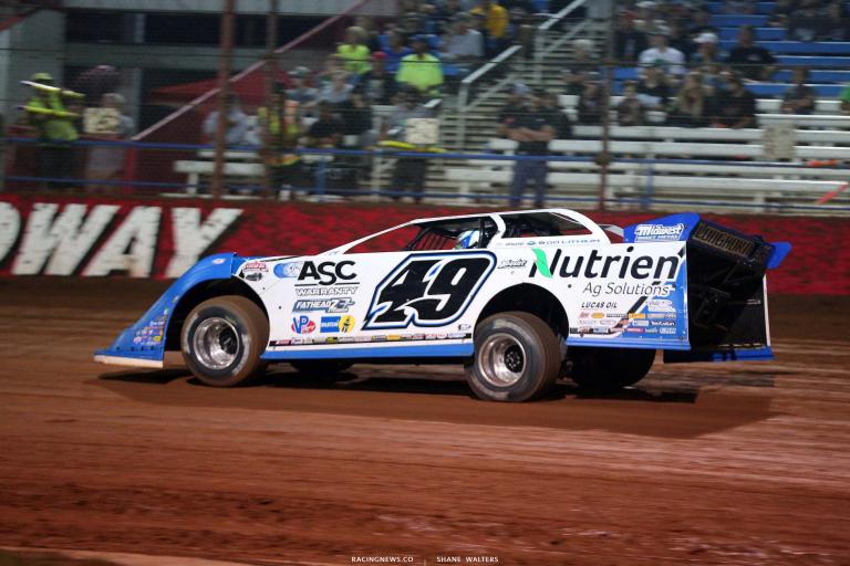 Jonathan Davenport at Lucas Oil Speedway - Lucas Oil Late Model Dirt Series 7425