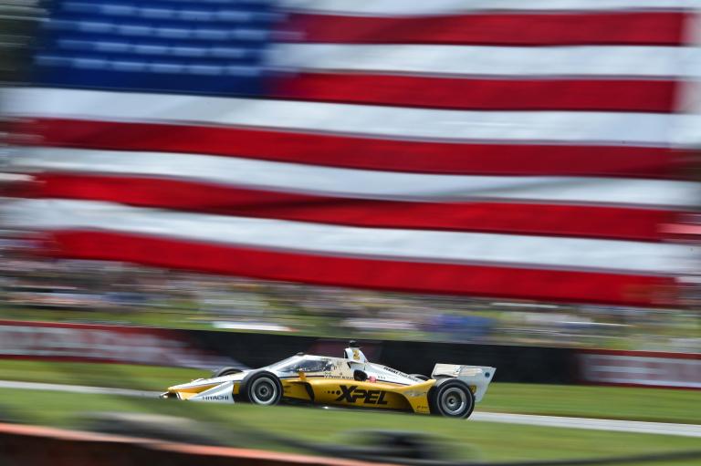 Josef Newgarden American Flag - Mid-Ohio - Indycar Series