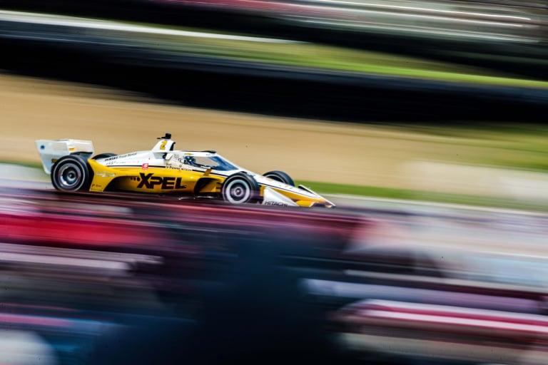 Josef Newgarden blur- Mid-Ohio - Indycar Series