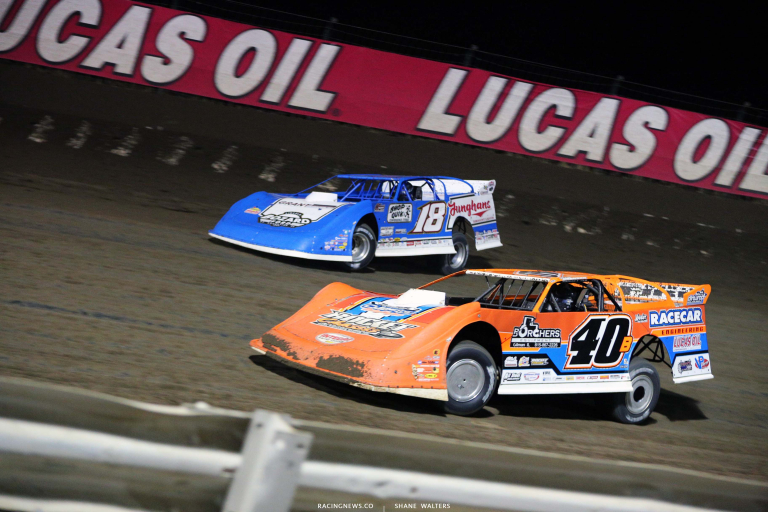 Kyle Bronson, Chase Junghans - I-80 Speedway - Dirt Late Model Racing 8263