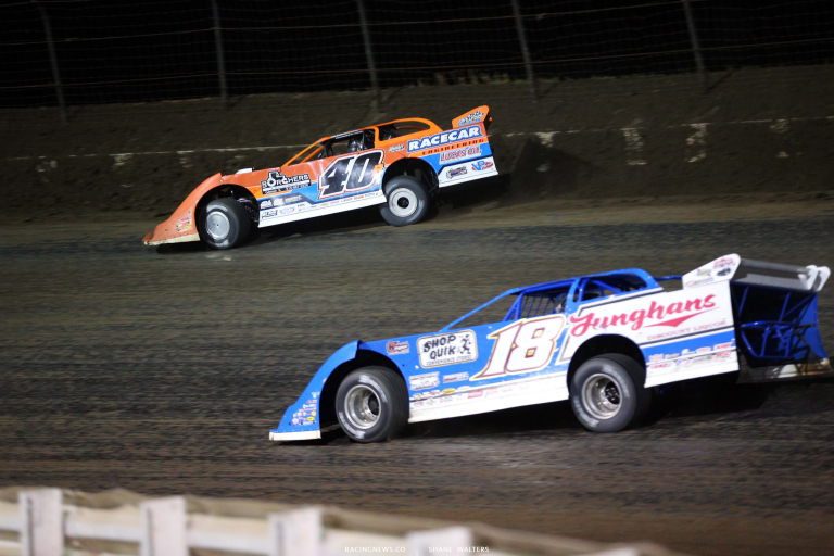Kyle Bronson, Chase Junghans - I-80 Speedway - Dirt Late Model Racing 8333