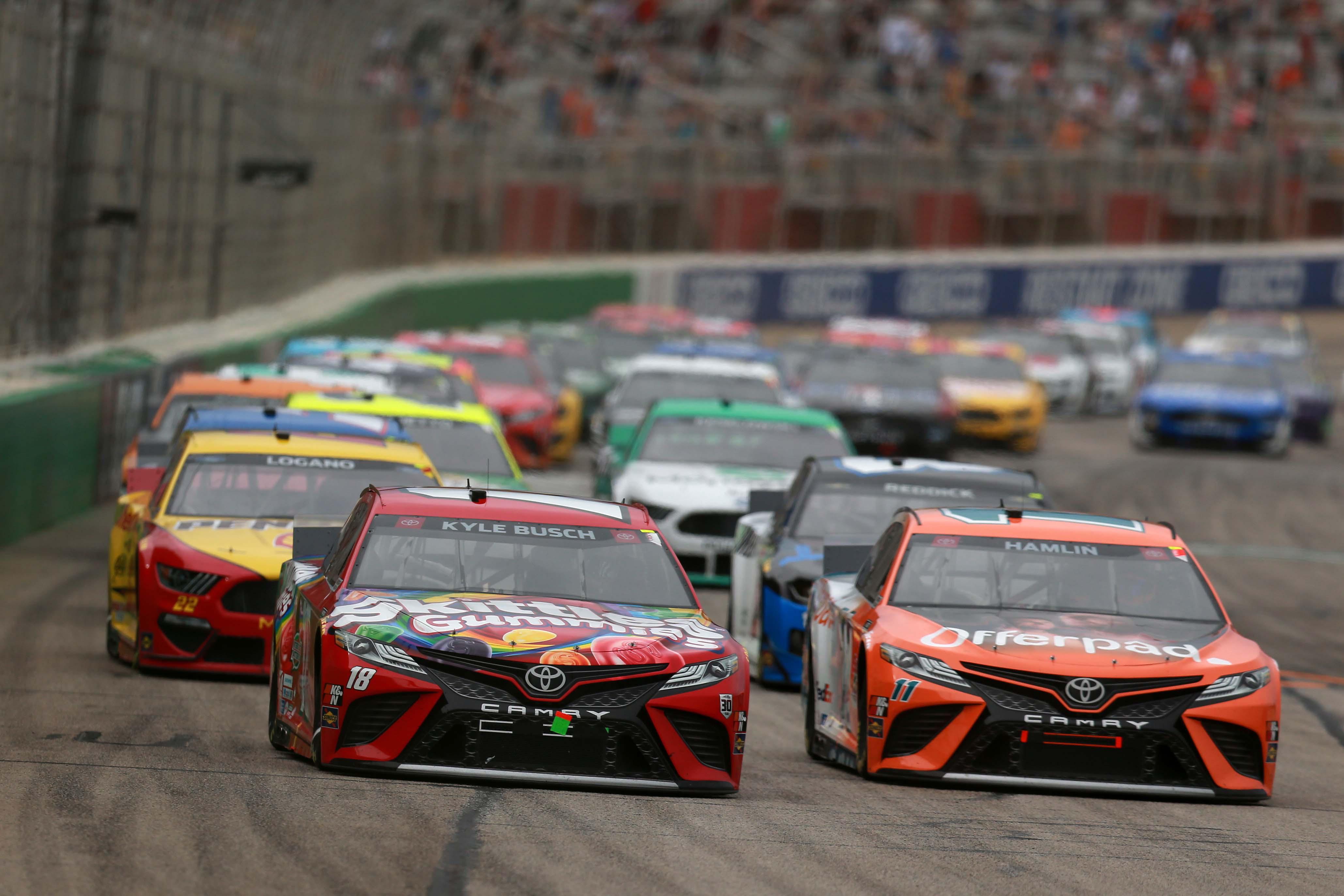 Kyle Busch, Denny Hamlin - NASCAR Cup Series - Atlanta Motor Speedway