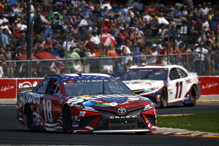 Kyle Busch, Denny Hamlin - Road America - NASCAR Cup Series