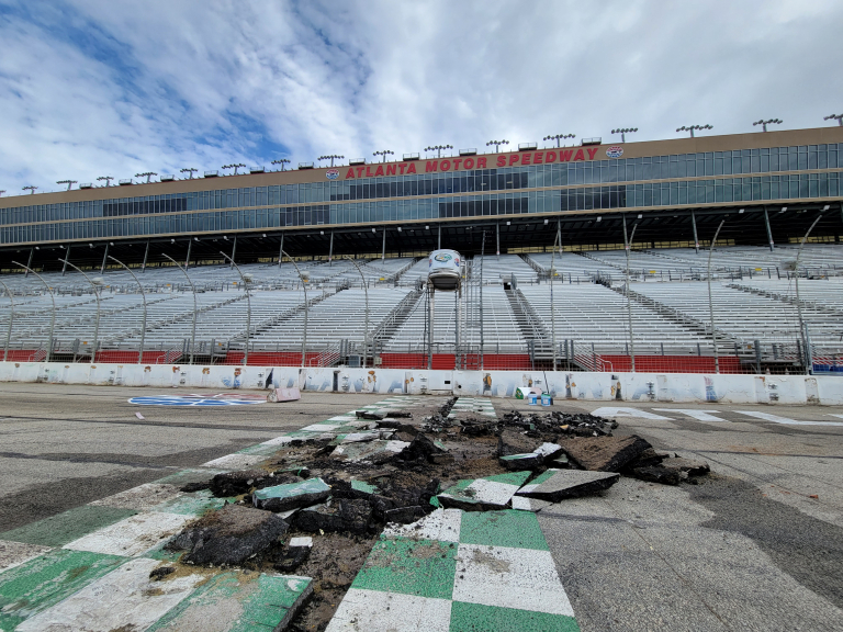 NASCAR track construction - Atlanta Motor Speedway