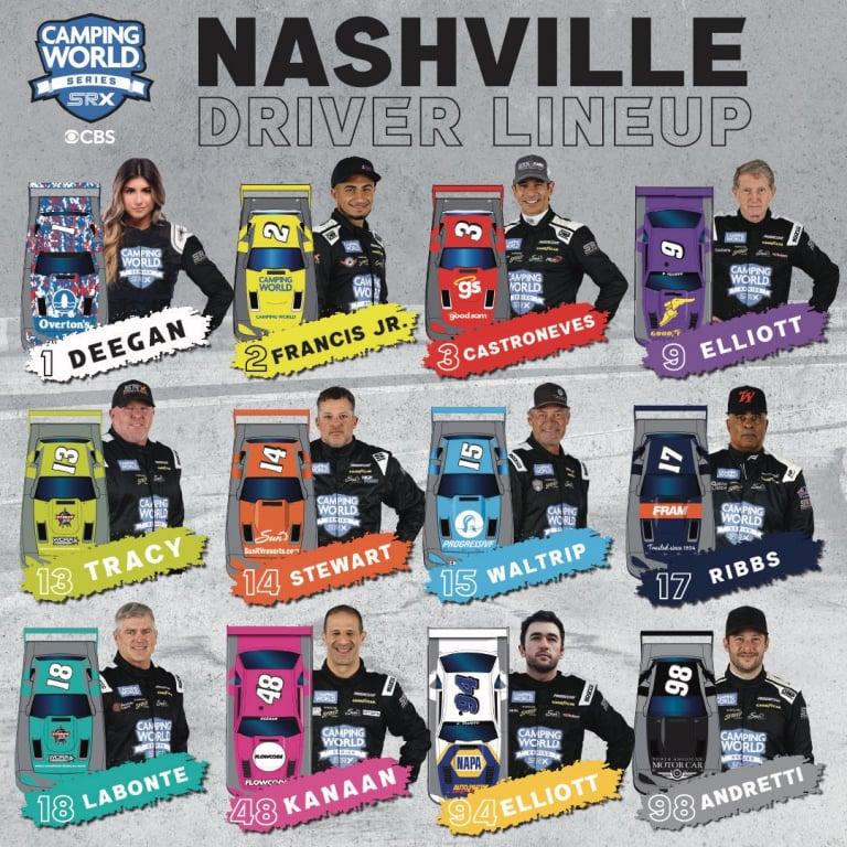 SRX Drivers - Nashville Fairgrounds Speedway