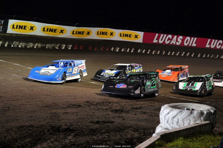 Stormy Scott, Chase Junghans, Kyle Bronson - I-80 Speedway - Dirt Track Racing 8243