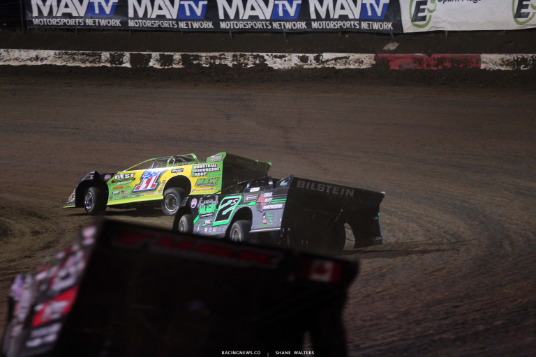 Tyler Erb and Stormy Scott - I-80 Speedway - Lucas Late Models 7804