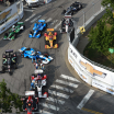 Crash on Nashville Street Circuit - Indycar Series
