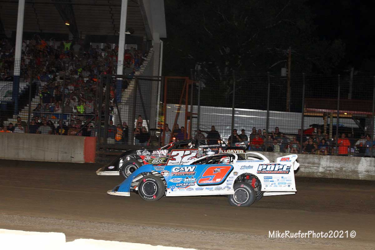 Devin Moran and Bobby Pierce - Davenport Speedway - World of Outlaws Late Models