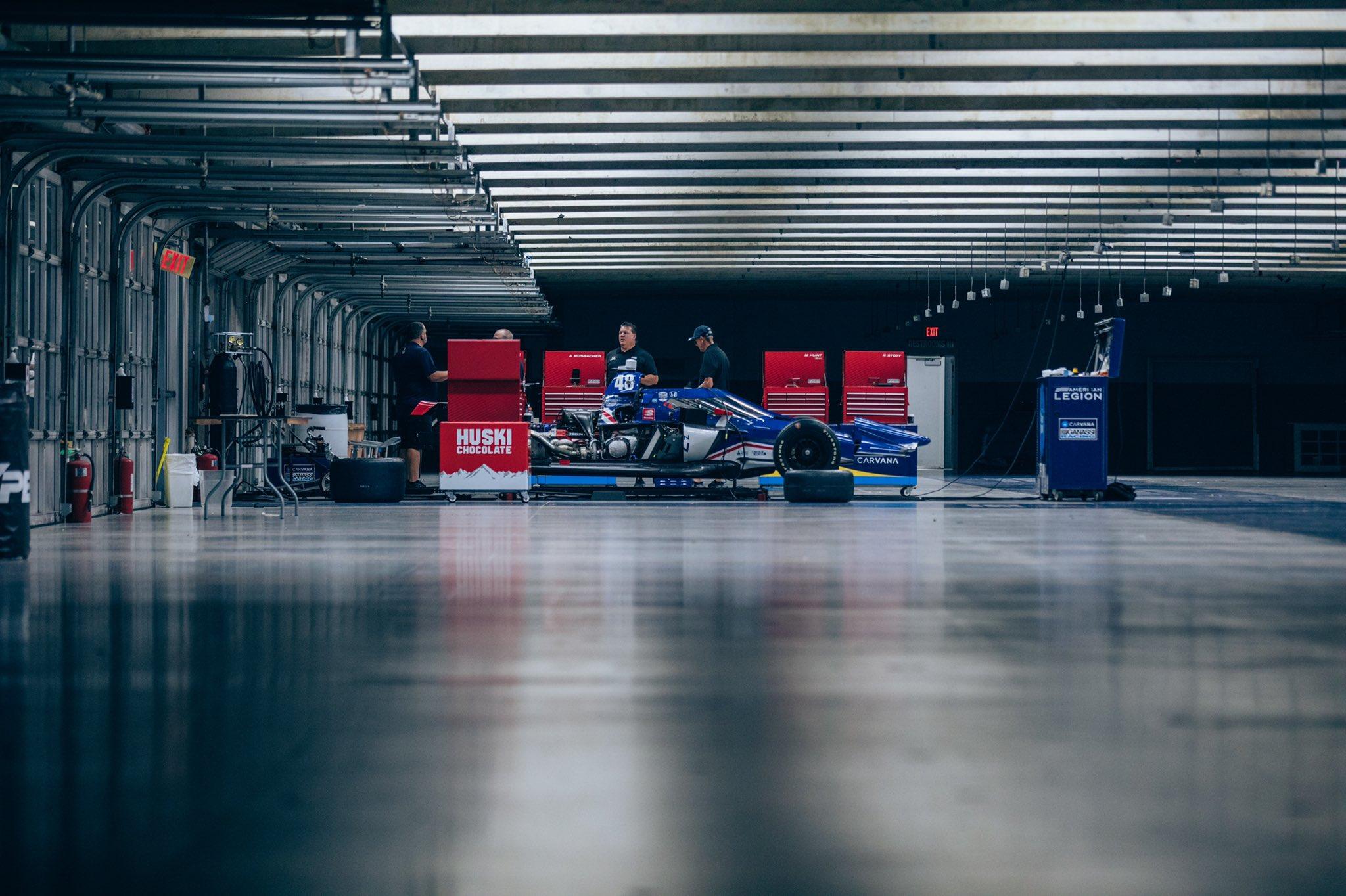 Jimmie Johnson - Indycar Garage