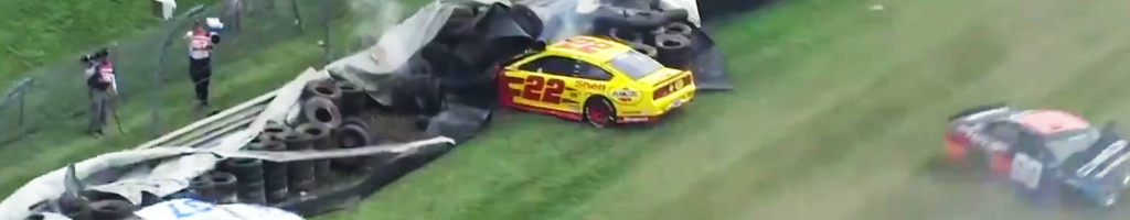 NASCAR curb breaks at Indianapolis; Multiple cars crash (Video)