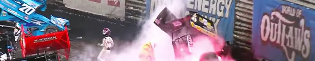 Wild Knoxville Nationals crash; Kyle Larson snakes through (Video)