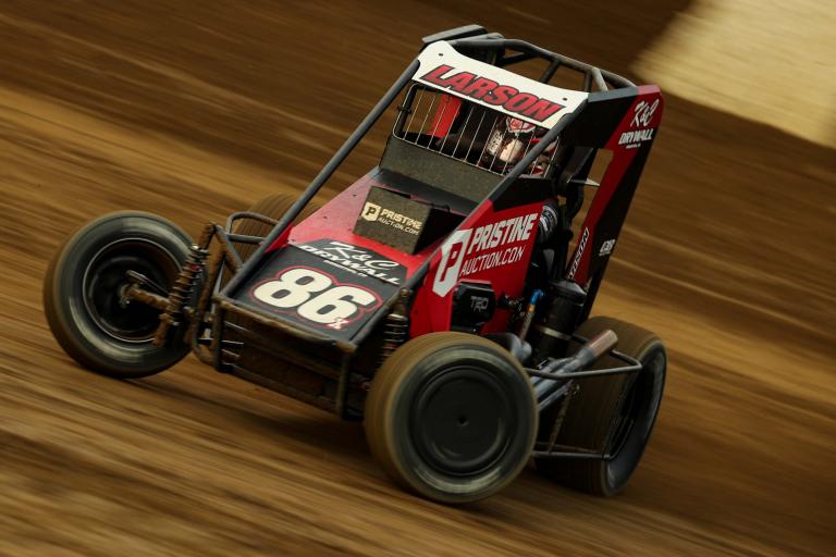 Kyle Larson - 86X USAC Dirt Midget - Indianapolis Motor Speedway Dirt Track